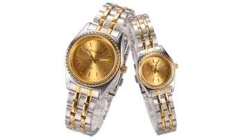 Elegant Stainless Steel Back Fashion Dress Watch for Woman Man Lovers Gift
