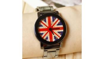Fashion Dress Accessories UK Flag Vintage Couple Wristwatch