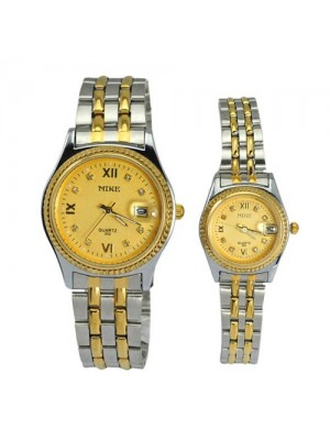 New Stylish Fashionable Water-proof Copper Alloy Quartz Movement Couples Watch
