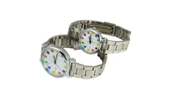 New Stylish Fashionable Water-proof Stainless Steel Quartz Movement Couples Watch