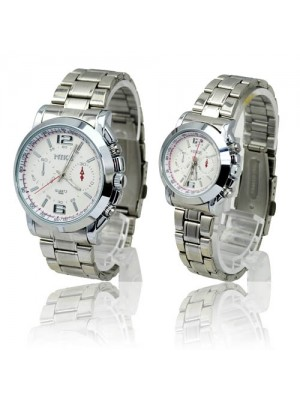 New Stylish Fashionable Water-proof Stainless Steel Quartz Movement Watches for Couples